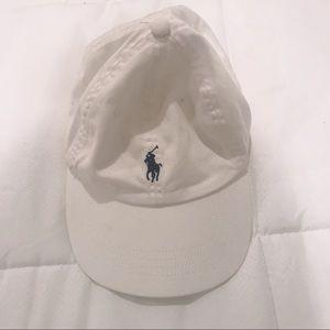 Ralph Lauren White Baseball Hat